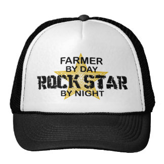 Estrella del rock del granjero por noche gorra