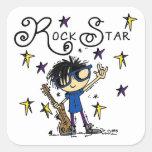 Estrella del rock del muchacho del pelo negro
