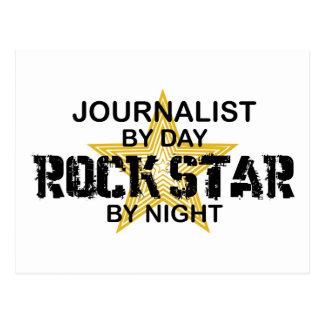 Estrella del rock del periodista por noche postal