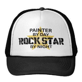 Estrella del rock del pintor por noche gorros