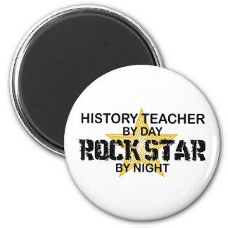 Estrella del rock del profesor de la historia imanes de nevera