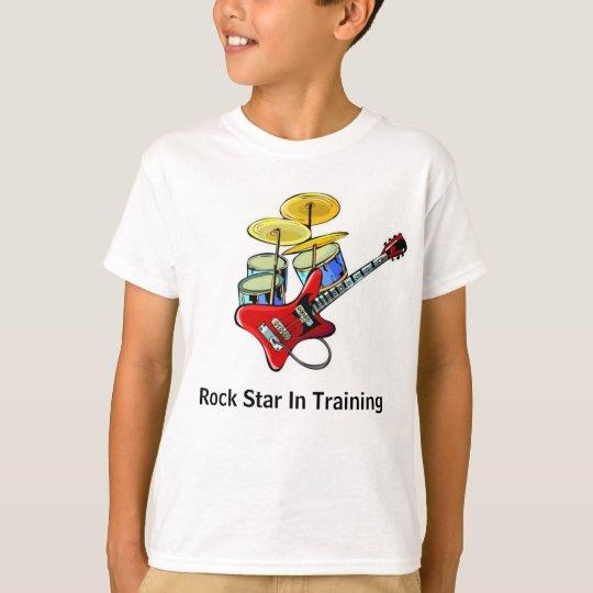Estrella del rock en el entrenamiento camiseta