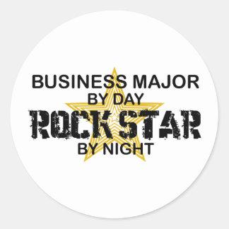 Estrella del rock importante del negocio pegatina redonda