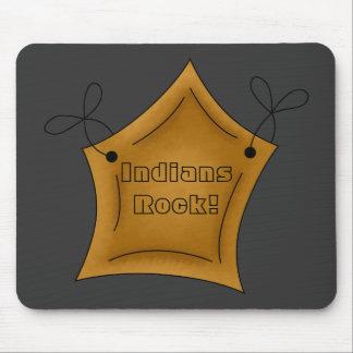 Estrella del rock Mousepad de los indios del nativ