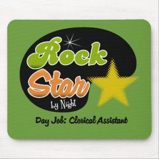 Estrella del rock por noche - ayudante administrat alfombrilla de ratón