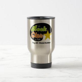 Estrella del rock por noche - ayudante administrat taza de café