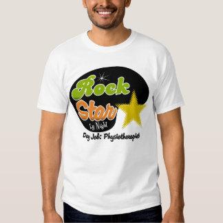 Estrella del rock por noche - fisioterapeuta del camiseta