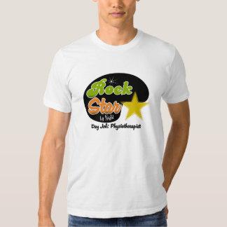 Estrella del rock por noche - fisioterapeuta del camisetas