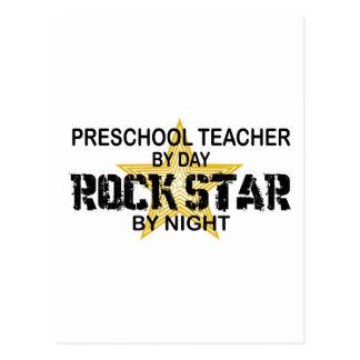 Estrella del rock preescolar por noche postales