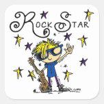 Estrella del rock rubia del muchacho