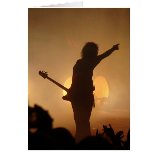 Estrella del rock tarjetón