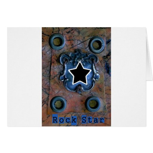 Estrella del rock tarjetas