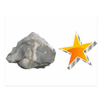 Estrella del rock tarjeta postal