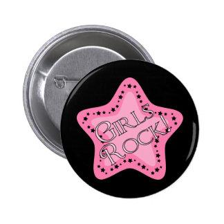 Estrella del rosa de rock de los chicas pins