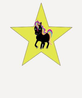 Estrella del unicornio camiseta