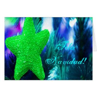 Estrella del verde de Feliz Navidad del navidad Tarjeta De Felicitación