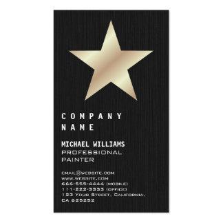 Estrella dorada profesional elegante Negro Madera Plantillas De Tarjeta De Negocio