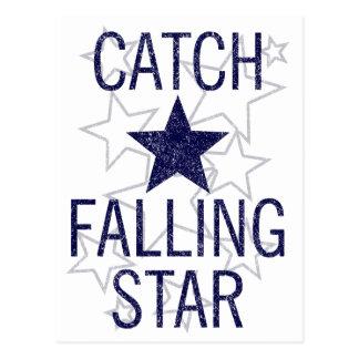 estrella el caer de la captura postal