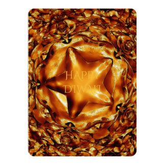 Estrella elegante de Diwali Brown del cobre feliz Invitación 13,9 X 19,0 Cm