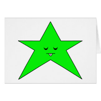 Estrella enferma tarjeta de felicitación
