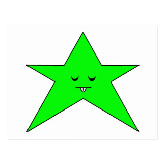 Estrella enferma tarjeta postal