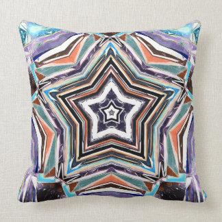 Estrella espectral abstracta cojín decorativo