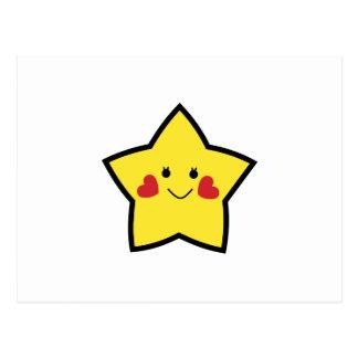Estrella feliz postal
