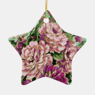 Estrella floral elegante de Joremount Adorno Navideño De Cerámica En Forma De Estrella