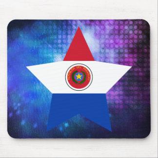 Estrella fresca de la bandera de Paraguay Alfombrilla De Ratón