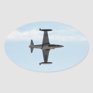Estrella fugaz P-80 Pegatina Ovalada