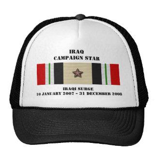 Estrella iraquí de la campaña de la oleada gorras
