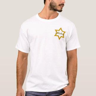 Estrella judía del oro con nombre camiseta