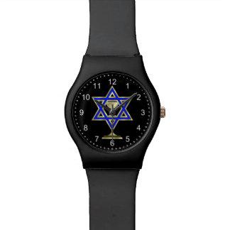 Estrella judía reloj de mano