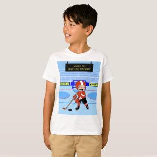 Estrella linda personalizada del hockey sobre camiseta