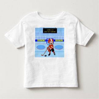 Estrella linda personalizada del hockey sobre camiseta de bebé
