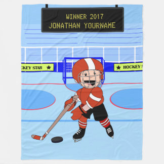 Estrella linda personalizada del hockey sobre manta polar