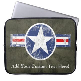 Estrella militar de los E.E.U.U. del vintage Fundas Ordendadores