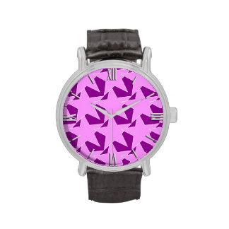 Estrella moderna geométrica - púrpura y violeta reloj de mano