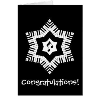 Estrella musical tarjeta de felicitación