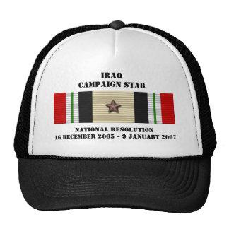 Estrella nacional de la campaña de la resolución gorros bordados