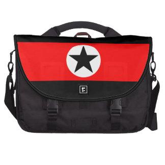 Estrella negra en bolso rojo del ordenador portáti bolsas para portátil