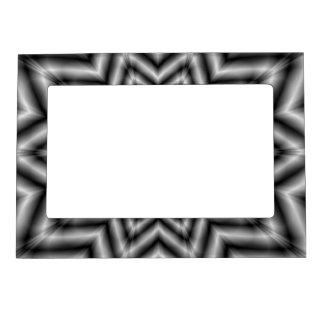 Estrella ópticamente estimulante en blanco y negro marcos magneticos de fotos