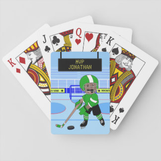 Estrella personalizada linda del hockey sobre barajas de cartas