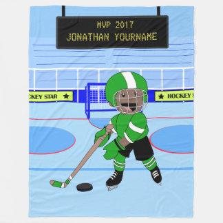 Estrella personalizada linda del hockey sobre manta polar