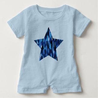 Estrella pintada body para bebé