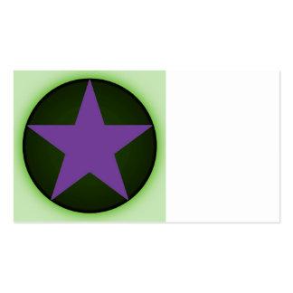 estrella plantillas de tarjetas personales