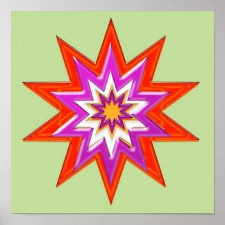 Estrella PÚRPURA roja: COSMOS HUMANO de la Póster