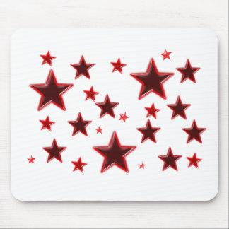 Estrella roja alfombrilla de ratón
