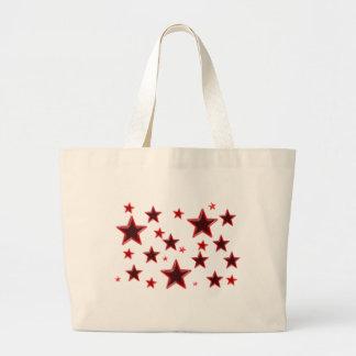 Estrella roja bolsa tela grande