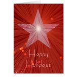 """Estrella roja """"buenas fiestas"""" tarjeta de felicita"""